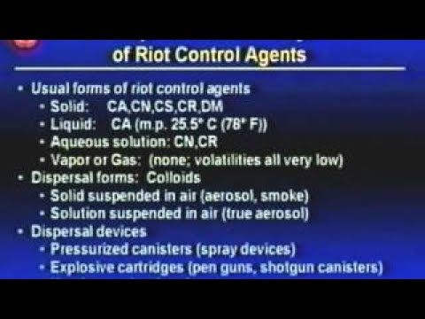 Modern Chemical Warfare Agents vesves Casualty Management