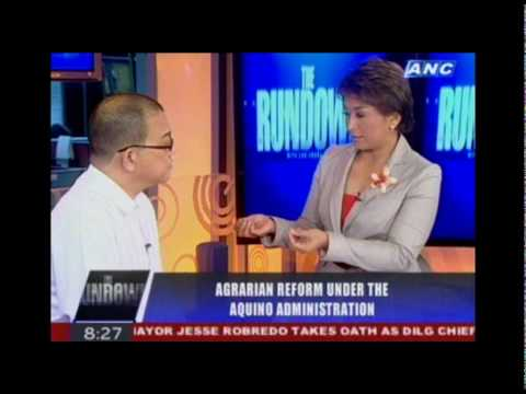 DAR Sec. Virgilio de los Reyes on THE RUNDOWN, July 12, 2010 (Part 1 of 3)