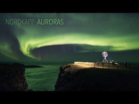 Nordkapp Auroras (4K TIMELAPSE)
