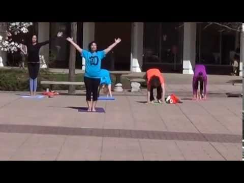 Yoga flashmob at Tunxis Community College April 29, 2015
