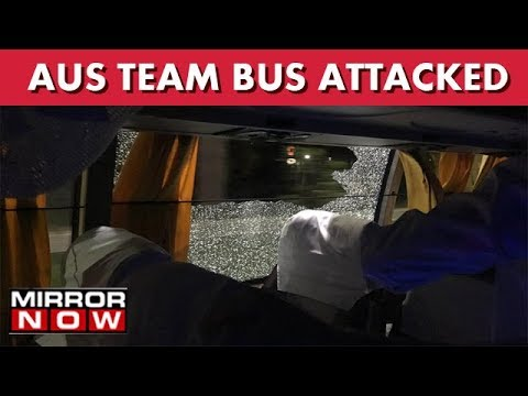 Australia Cricket Team Bus Attacked With Rock In Guwahati I The News