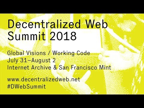 Decentralized Web Summit 2018 — Day 1 — Hyper Room
