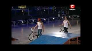 видео BMX-трюки на велосипеде