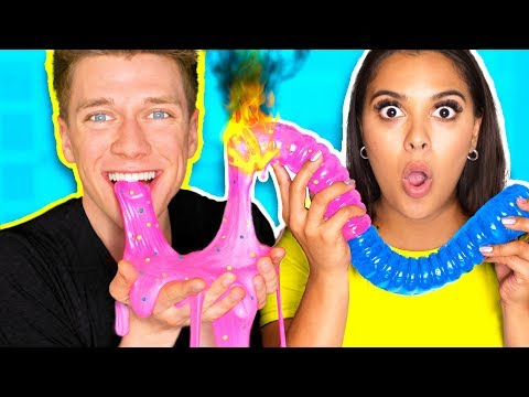 Thumbnail: DIY Giant Gummy Worm MELTS into Edible Candy Slime!!! *SLIME YOU CAN EAT* How To Make The BEST Slime
