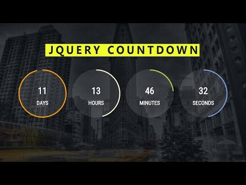 Countdown JQuery Effect ( Source file included ) -  Web Design Tutorial thumbnail