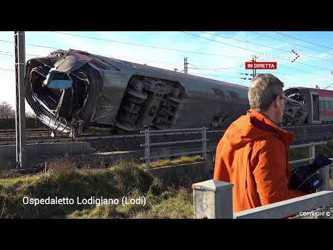 Lodi, deraglia treno alta velocità: due morti e diversi feriti