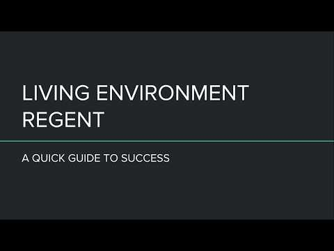 Living Environment Regent Guide