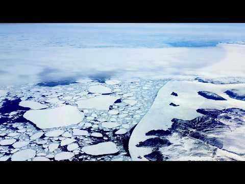 Baffin Island Ice Breakup 2017 (Airplane Fly-over)