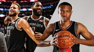 The Detroit Pistons beat the Chicago Bulls 107-88 game review and warriors preview!!