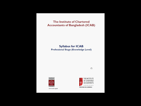 ICAB Syllabus | CA Knowledge Level