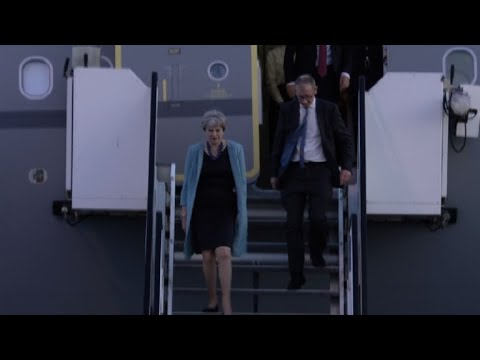 Britain's prime minister arrives for G20