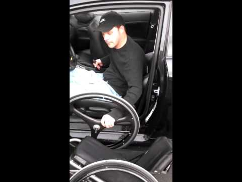 SCIVideoBlog.com - C4/C5/C6 Quadriplegic Car Transfer