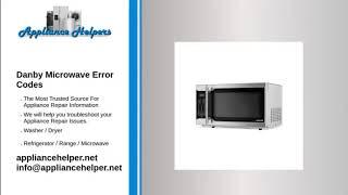 danby microwave error codes appliance