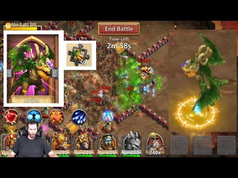 New Leafy Dragon Arctica SKIN IN ACTION Crazy Proc Castle Clash