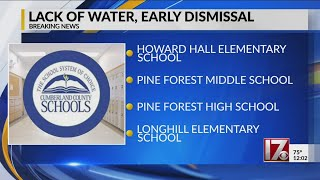 4 Cumberland County schools dismissing early due to water issue