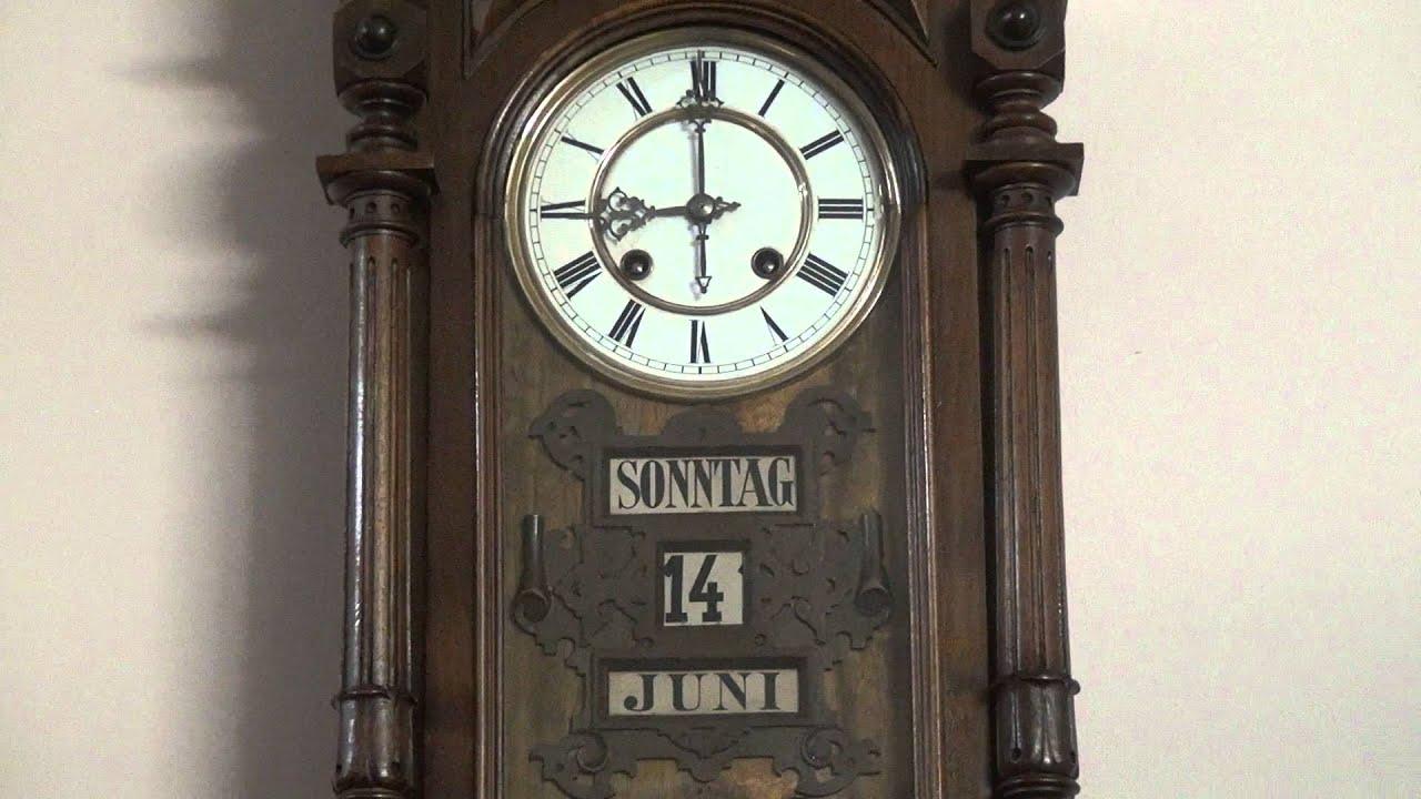 Calendar Clock Wallpaper : German wall clock calendar youtube