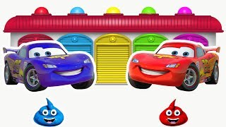 Learn Colors With McQueen Cars Toilet Poop Funny Videos - Learn Colors For Kids Children Toddlers