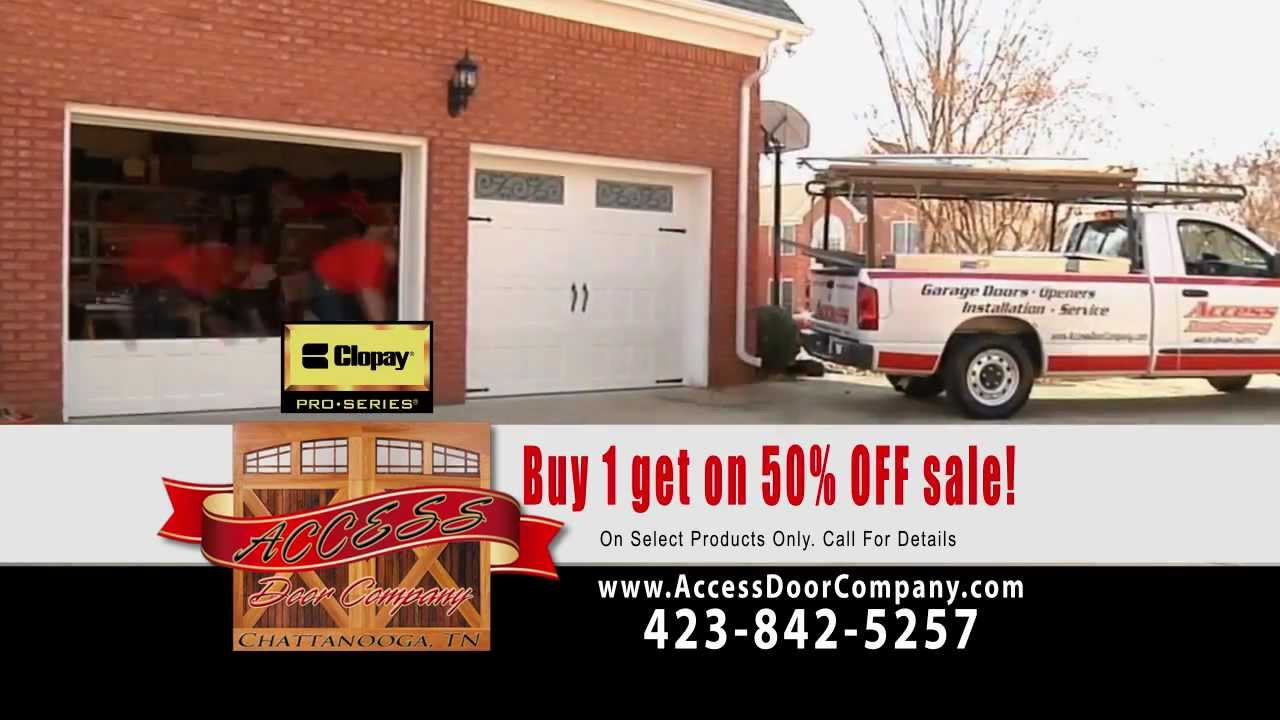 Garage Door Sale, Access Door Company, Fall 2012, Buy One Get One 1/2 Off
