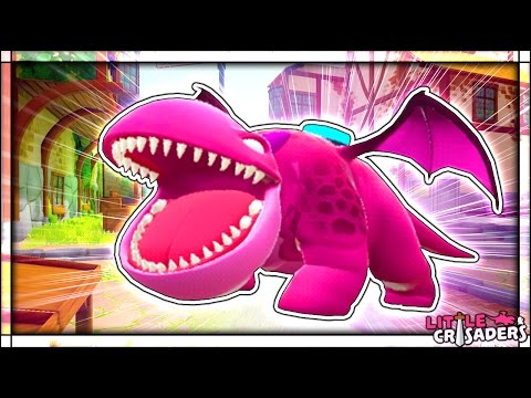 EXTREMELY CUTE PINK DRAGON TRIES TO EAT ME ALIVE | Tower Unite Funny Moments (Little Crusaders)