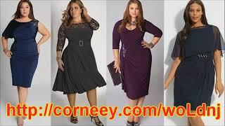 фасоны платьев для полных женщин после 50