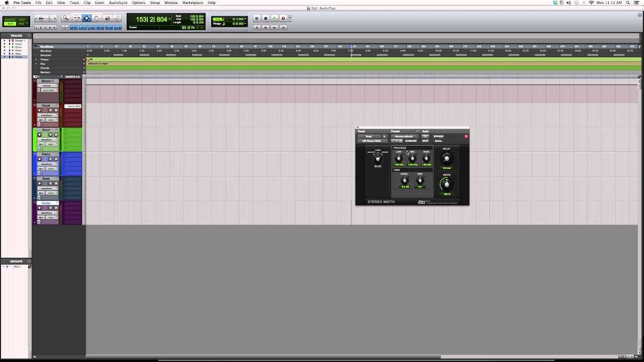 603 Overview Of The Powerful AIR Stereo Width Plugin Inside Protools