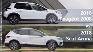 2018 Peugeot 2008 vs 2018 Seat Arona (technical comparison)