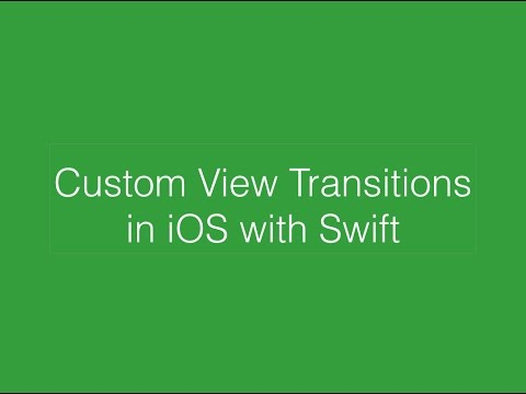 Custom Transitions in iOS with Swift
