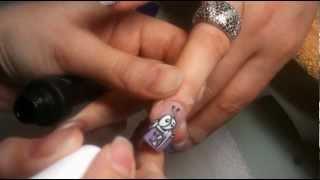 Aquarium Nails Design How-To part 2