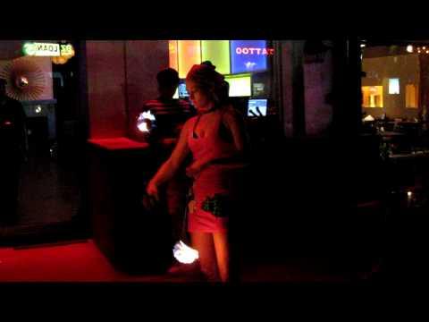 Fire Woman outside Hotel Capri on Lower Greenville