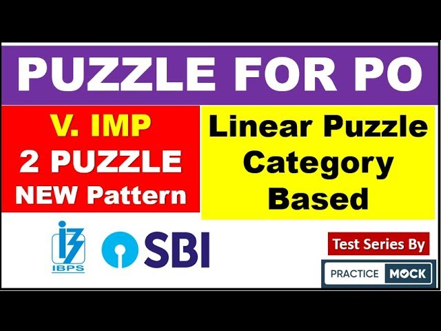 Very Important Puzzle for BANK PO and clerk (2 SET 10 MARKS Questions ) by Practice Mock Test series
