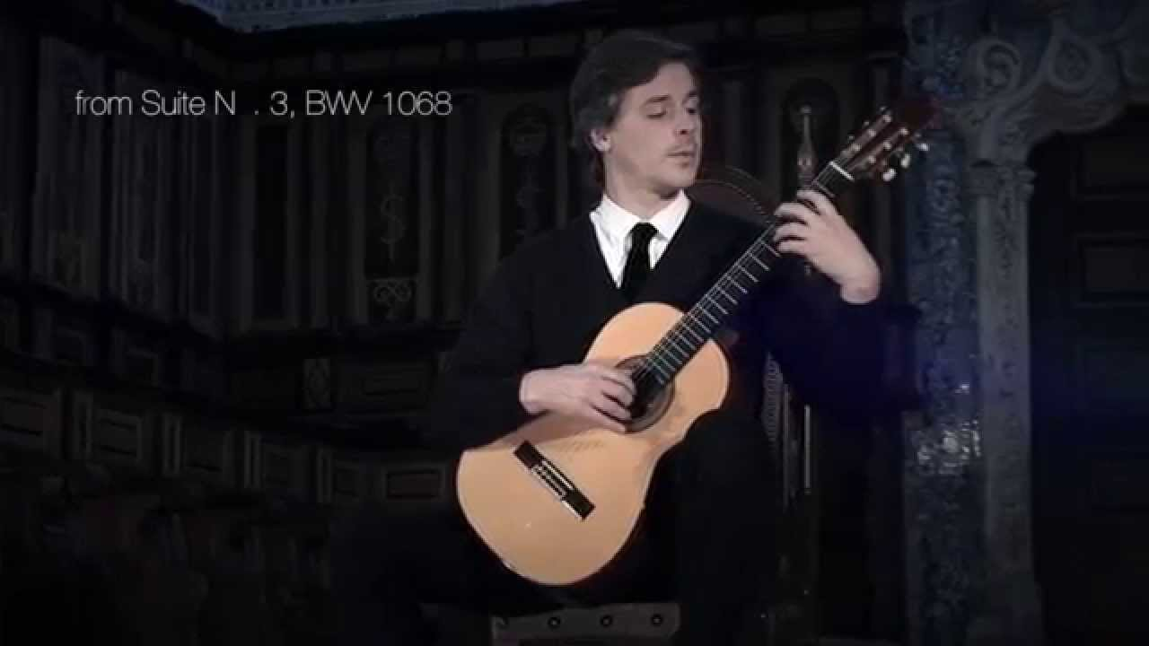 Free Sheet Music Classical Guitar Air On A G String - j s
