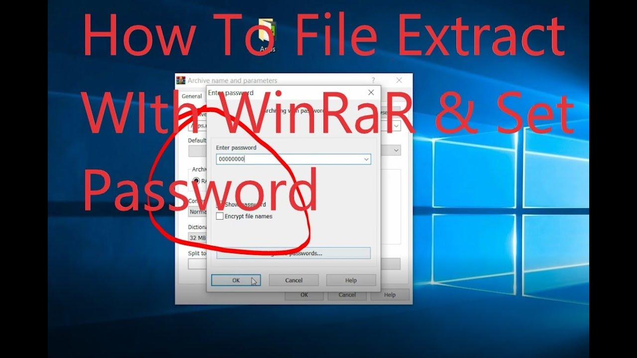 How to Install File Extract Winrar & Set Folder Password