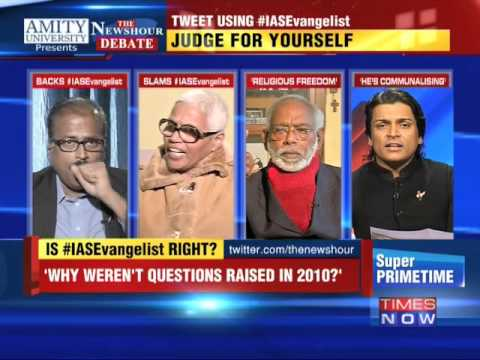 The Newshour Debate: Holy book Is Above Constitution? (28th Jan 2015)