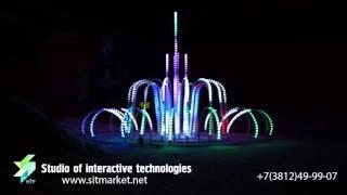 видео светодиодные фонтаны
