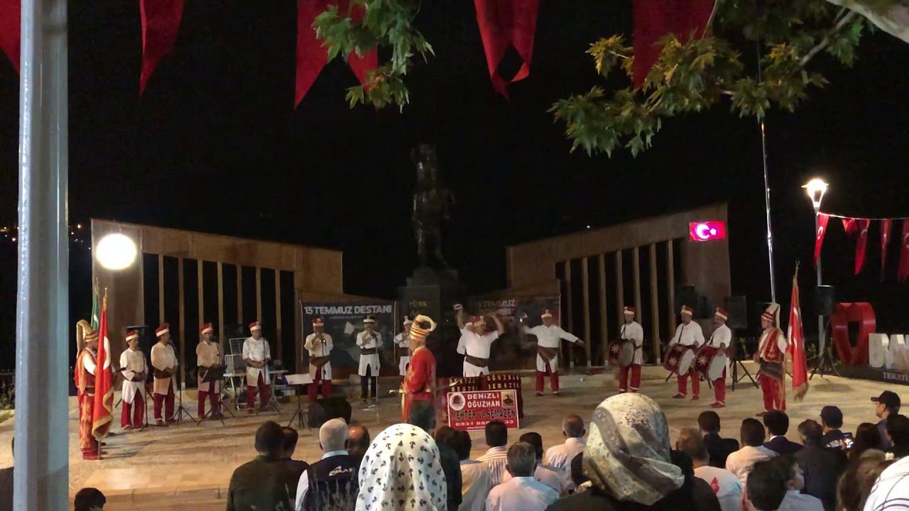 Mehter marşı Denizli Babadağ 15 Temmuz anma töreni