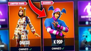 5 BANNED Fortnite Skins THAT WONT RELEASE!