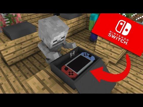 Monster School: Unboxing Nintendo Switch - Minecraft Animation