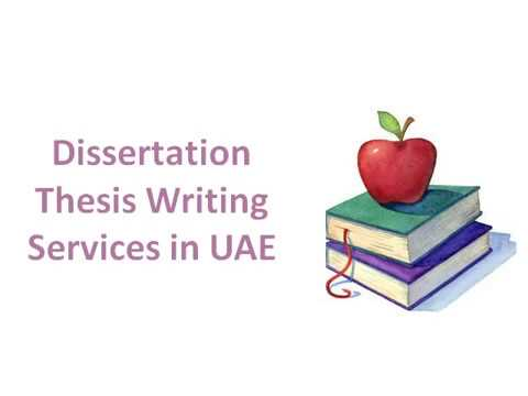 Dissertation Thesis Writing Services in UAE