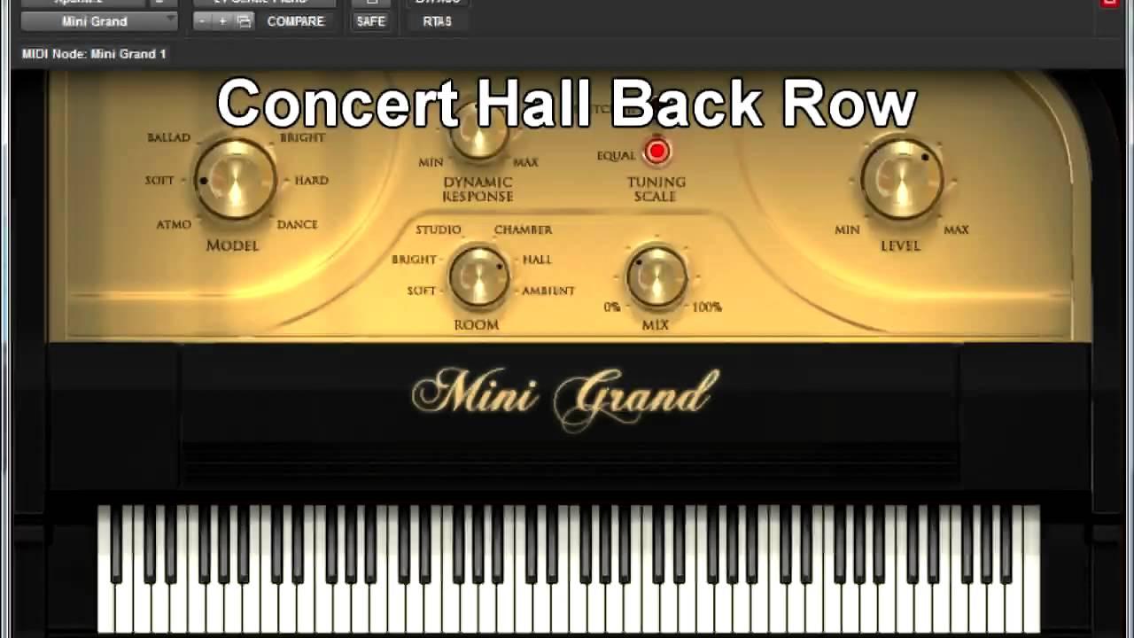 Pro Tools - Mini Grand piano demo