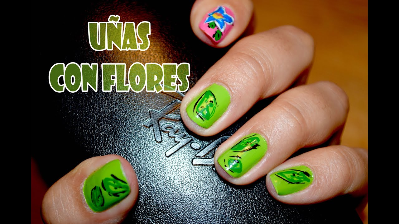 Atractivo Flor 3d Arte De Uñas Cresta - Ideas Para Pintar Uñas ...