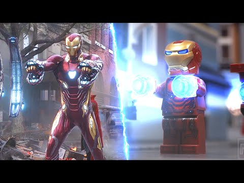 LEGO Avengers Infinity War New York Battle Earth Is Closed Today Get Out Side By Side Comparison