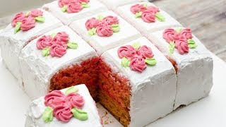 MILKY ROSE SLICE CAKE I EGGLESS & WITHOUT OVEN
