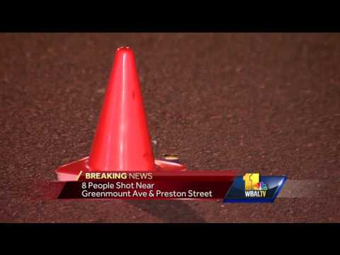 8 people, including toddler, shot in east Baltimore