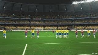 PES 2014 World Challenge Brasil VS Chile Gameplay