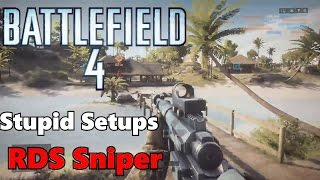 Battlefield 4 Stupid Setups Red Dot Sight Sniper!