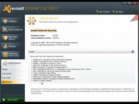 avast internet security license file 2017