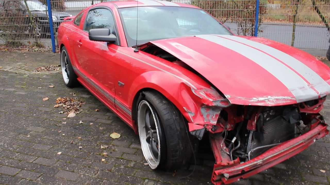 ford mustang crash unfall accident youtube. Black Bedroom Furniture Sets. Home Design Ideas