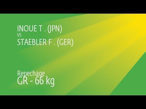 Repechage GR - 66 kg: T. INOUE (JPN) df. F. STAEBLER (GER), 2-2