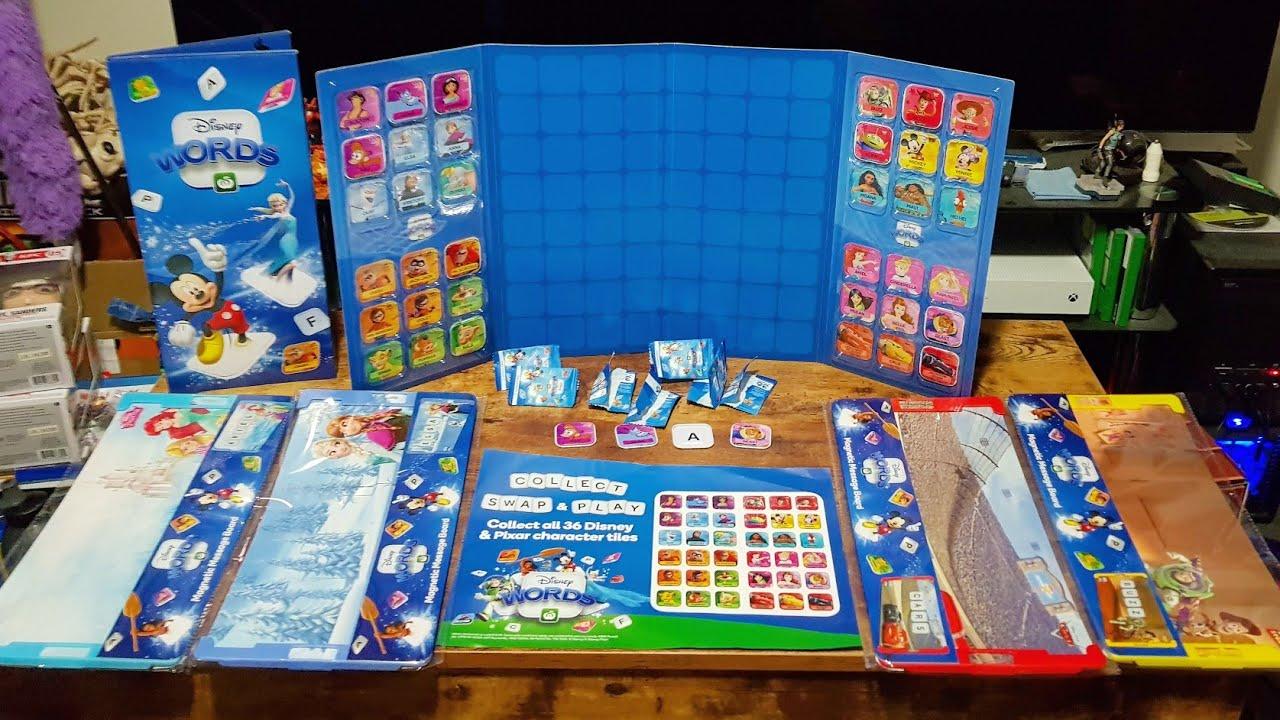 Brand New Woolworths Disney Words Set of 36 Scrabble Tiles Bag /& Album