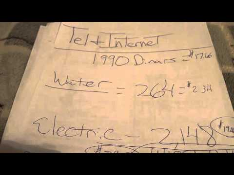 Serbian Travel Tips: Cost of Monthly Bills (elec, internet, water)